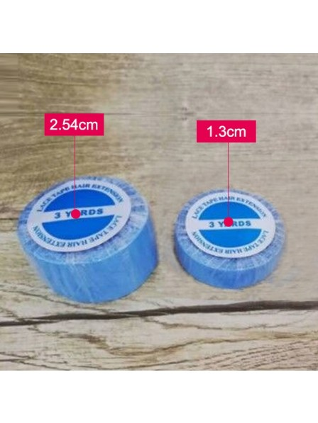 Lace Front Support Tape Blue Liner Roll For Wigs 1.3cm*3 yard