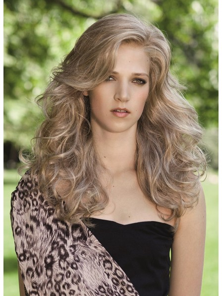 Blonde Synthetic Capless Long Curly Wigs