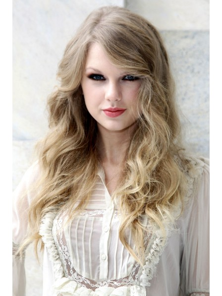 Fashion Ladies Haircut Long Blonde Lace Front Wig Mono Top
