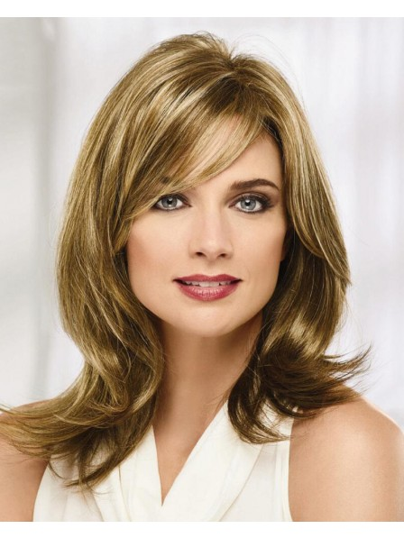 Sophisticated And Stylish Long Wig With Feathery Flicked Ends