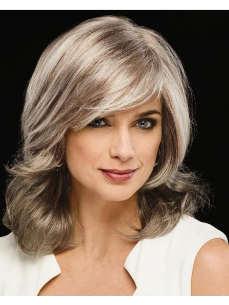 Cheap Long Wig With Full Lush Layers And Sweeping Bangs