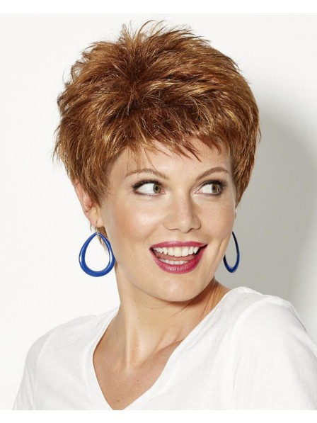 Spirited Pixie Wig With Piecey Layers And Razored Bangs