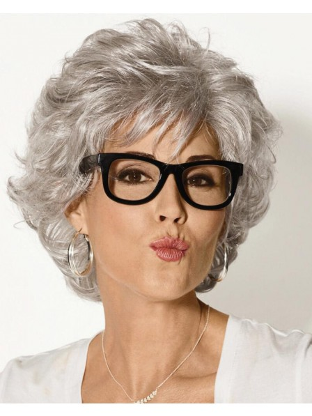 Timeless Short Grey Wig With Lush Voluminous Layers