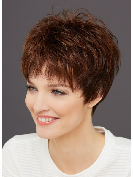 Timeless Light Brown Very Cut Women Wigs for Ladies Over 50