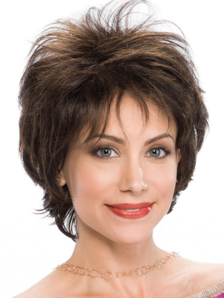 New Short Feather Cut Style Ladies Wig for Ladies