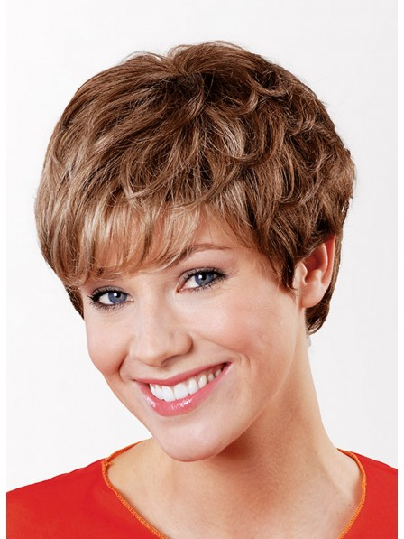 Pixie Cut Capless Human Hair BoyCuts Wigs For Young Lady