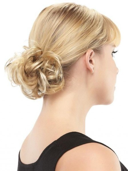 Natural Look Blonde Curly Ponytail Wrap Near Me