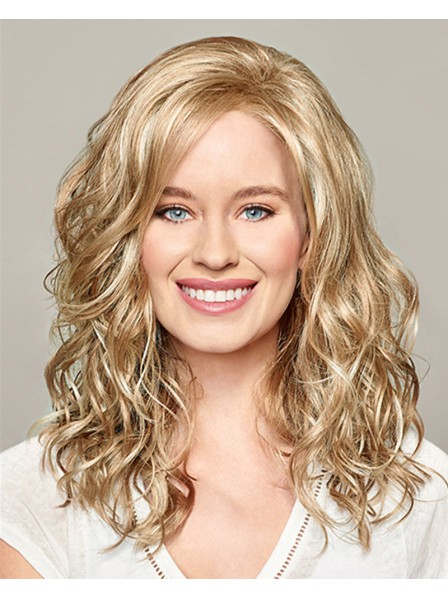 Shoulder Length Curly Synthetic Lace Front Wigs