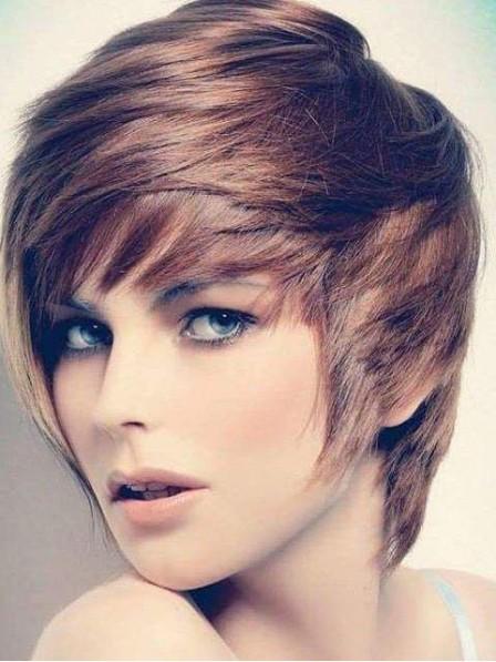 Capless Human Hair Wigs Pixie Cut For White Women