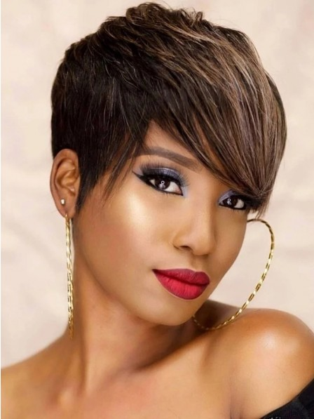 Cheap Short Heat Friendly Synthetic Hair Wigs For Women