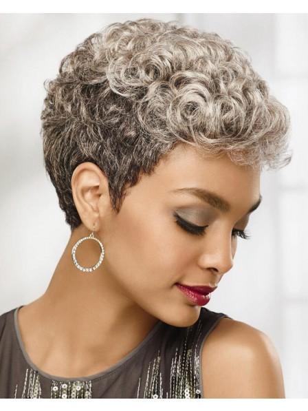 Chic Pixie Wig With Short Texture-Rich Layers Of Soft Curls