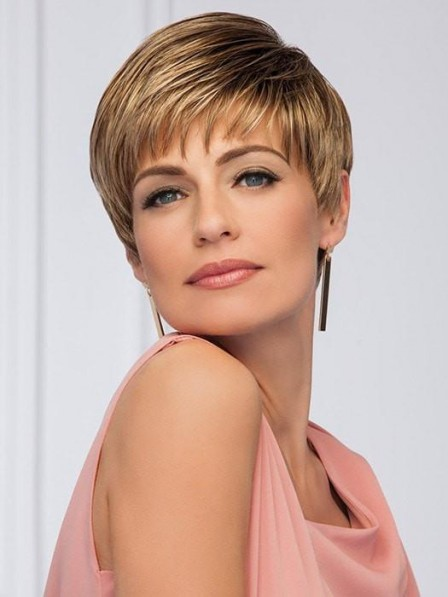 Classic Pixie Cut Petite Wig With Bangs Fast Ship