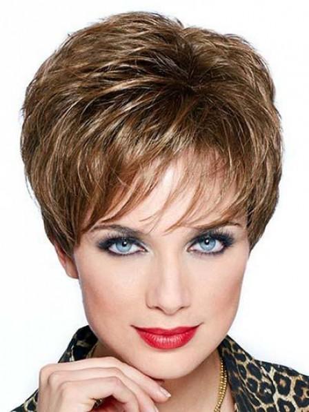Classical Pixie Cut Straight 100% Human Hair Wigs 2019