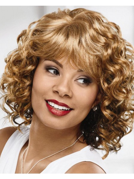 Elegant Layered Curly Wig With A Comfortable Stretch-To-Fit Cap