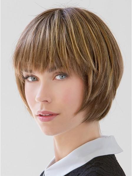"6""-12"" Straight Blonde 100% Human Hair Bangs"