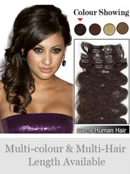 Human Hair Clip In Hair Pieces and Extensions