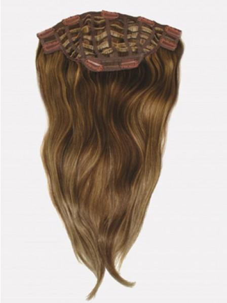 Straight Auburn Human Hair Top Hair Pieces fpr Women