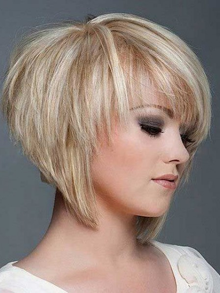 Fashion 2019 Lace Front Layered Short Straight 100% Human Hair Wigs