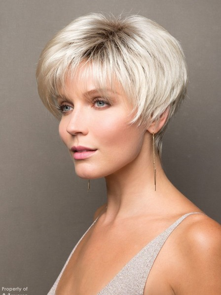 Affirdable Short Synthetic Hair Capless Wig for Women