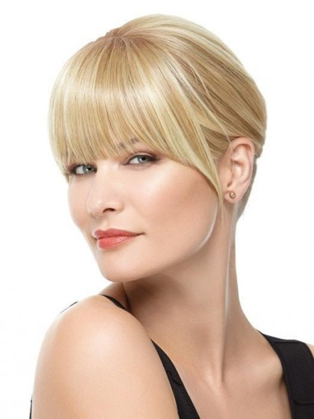 Cheap Ladies Synthetic Hair Blonde Fringe Clip-in Bang