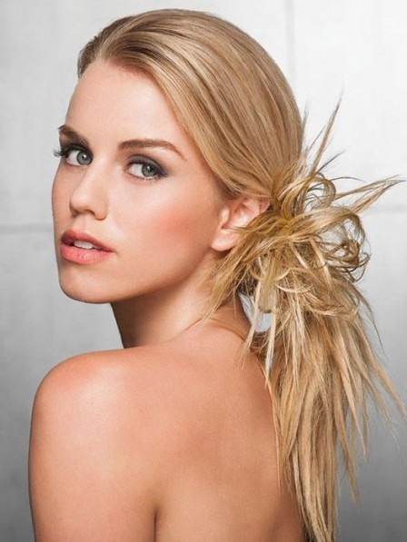 Hot Sale Heat-Friendly Synthetic Hair Spiky Clips In Hairpieces
