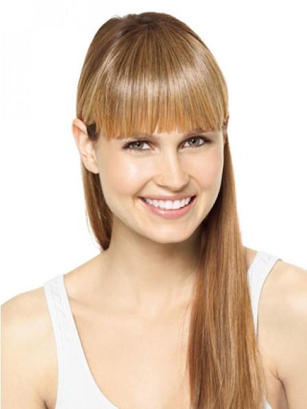 "Natural Look 6"" Straight Blonde 100% Human Hair Capless Bangs"