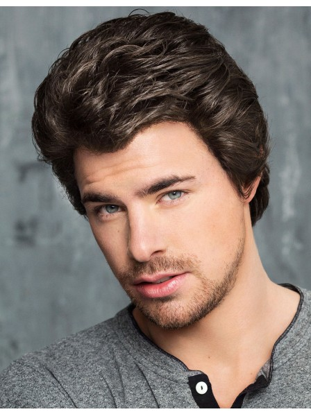 Cheap Lace Front Mono Top Brown Hair Wigs For Male