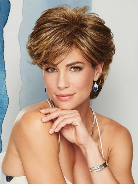 Layered Cut Short Women Synthetic Wig With Side Bang