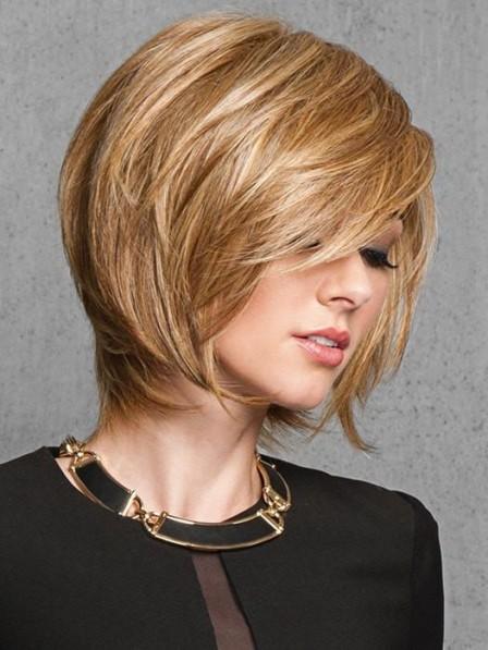Layered Look Capless Chin Length Women Wigs Bob Styles
