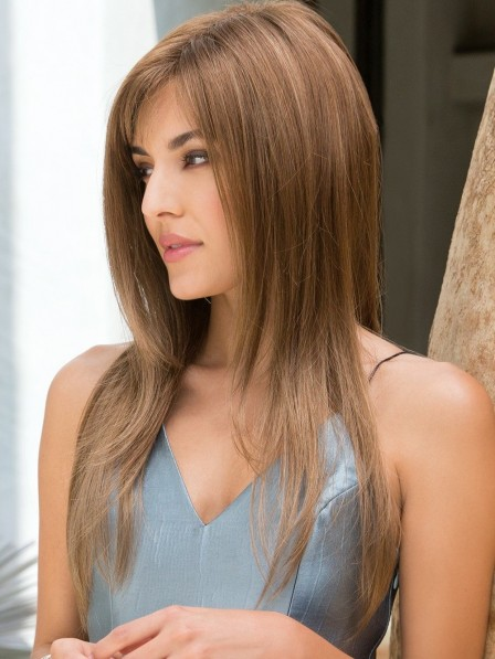 Modern Long Sleek Stunning Capless Women Wigs