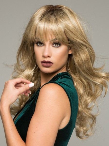 Buy Long Soft Wave Women Wig With Full Bangs