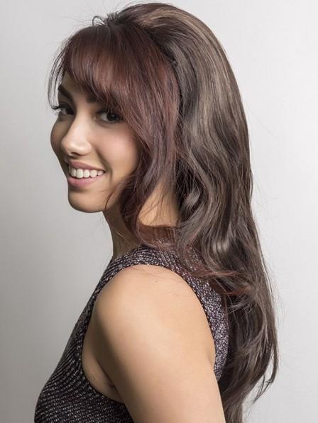 Simple Long Synthetic Hair 3/4 Cap Fall Wigs