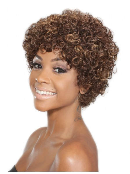 Cheap Natural Short Hair Curly African American Wigs