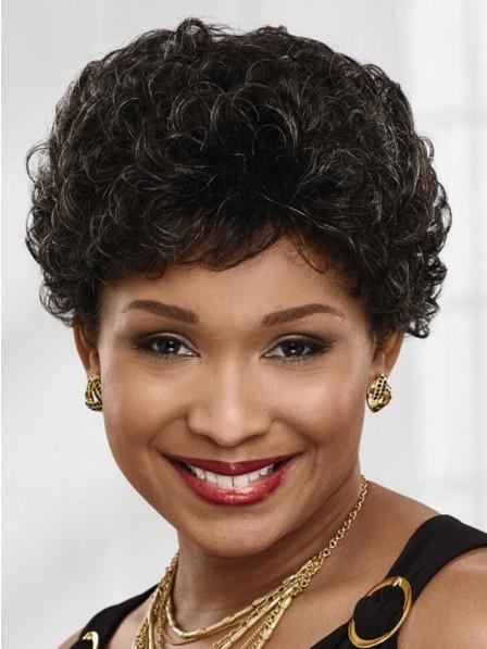 Elegant Mother's Curly Capless Wigs New Design