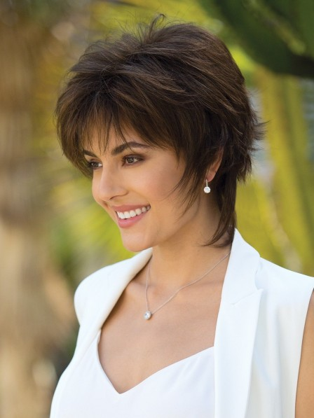 Natural Look Fashion Brown Short Wig on Sale