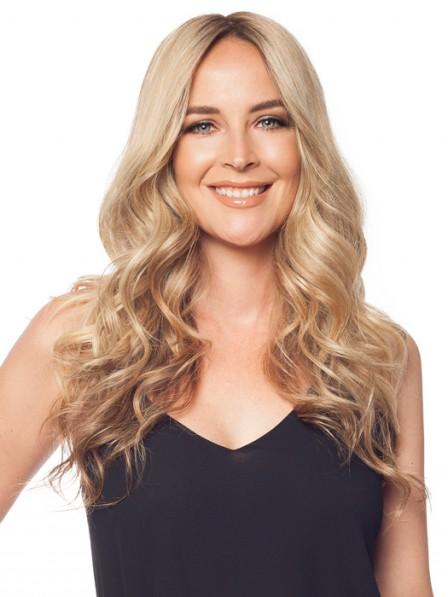 Affordable Wavy Blonde 100% Human Hair Mono Hair Pieces