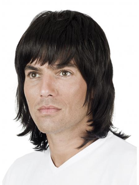 Shop Medium Straight Mens Human Hair Wig On Sale