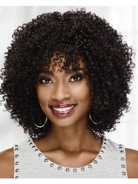 On-Trend Curly Wig With Voluminous Layers Of Tight Bouncy Spiral Curls