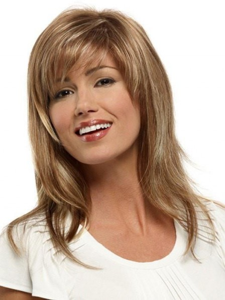Perfec Blonde Long Layered Straight Women Wigs