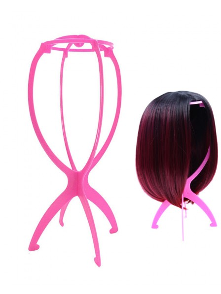 Cheap Pink Wig Stand Holder Mannequin Head Wig Stands