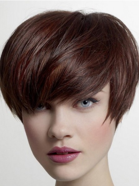 Popular Lace Front Pixie Cut Straight Synthetic Wigs