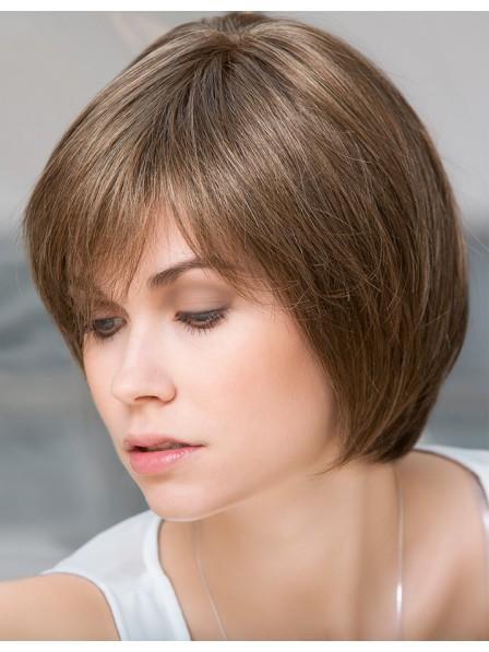 """10"""" Straight Brown 100% Human Hair Mono Hair Pieces 2019"""