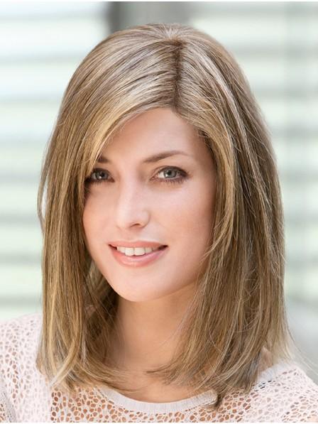 """14"""" Straight Blonde 100% Human Hair Mono Hair Pieces"""