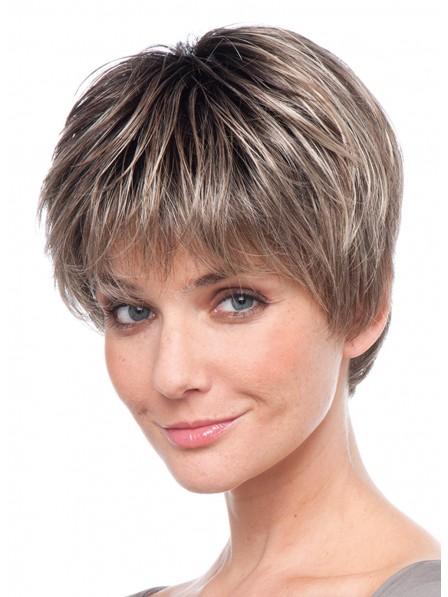 Hot Sale Straight Brown100% Human Hair Mono Hair Pieces