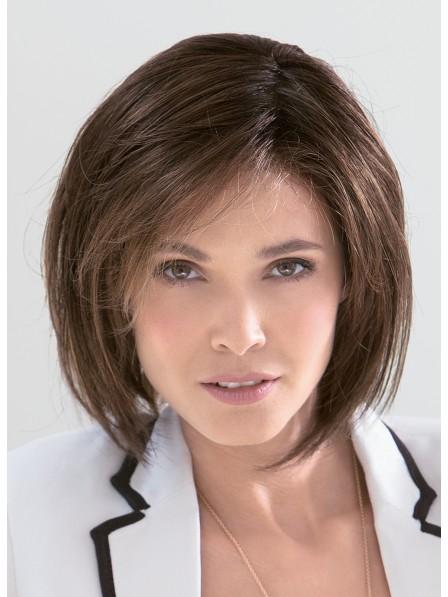 Ladies Straight Brown 100% Human Hair Mono Hair Pieces