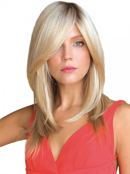 Women's Straight Blonde 100% Human Hair Mono Hair Pieces