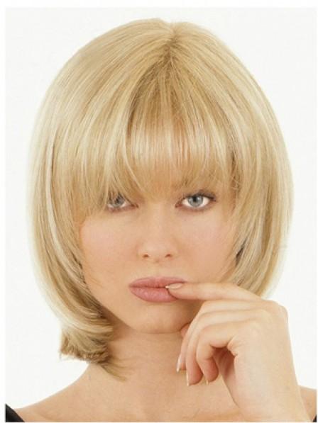 """10"""" Straight Blonde 100% Human Hair Mono Hair Pieces"""