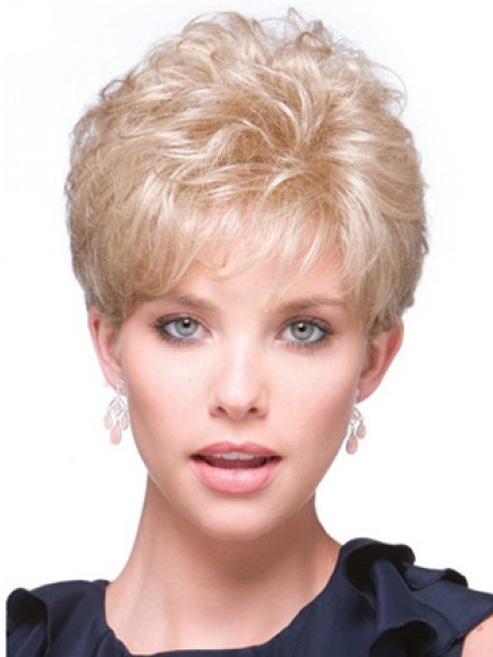 Curly Blonde Human Hair Wigs