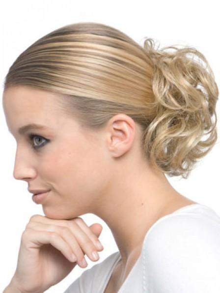 Ladies Blonde Heat Friendly Synthetic Hair Scrunchie Hair Wraps