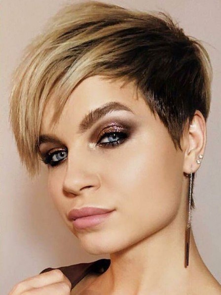 Short Lace Front Mono Straight 100% Human Hair Wigs